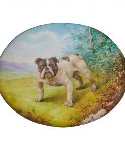 Royal Doulton Hand Painted Plaque Bulldog Champion Keterfelto - Royal Doulton