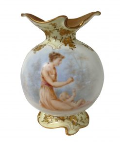 Burslem Luscian Ware Vase - Woman with infant - Royal Doulton