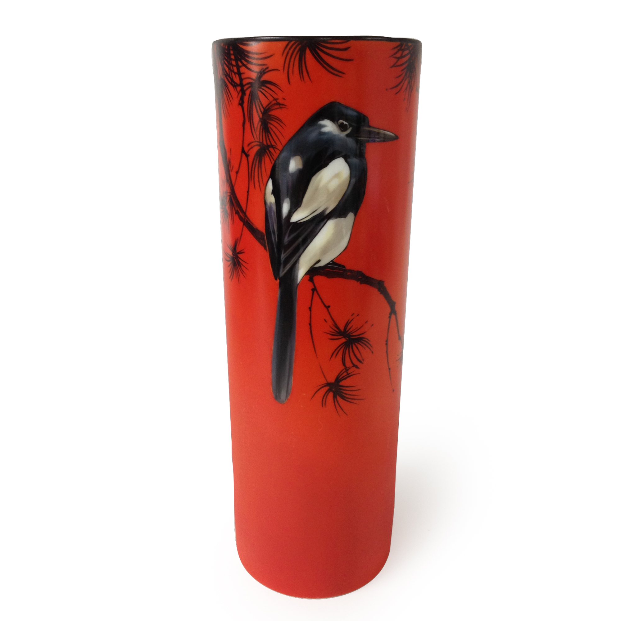 Royal Doulton Magpie Vase by H. Allen