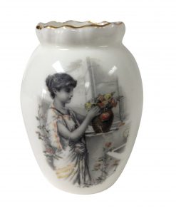 Burslem Miniature Vase - Woman in Garden