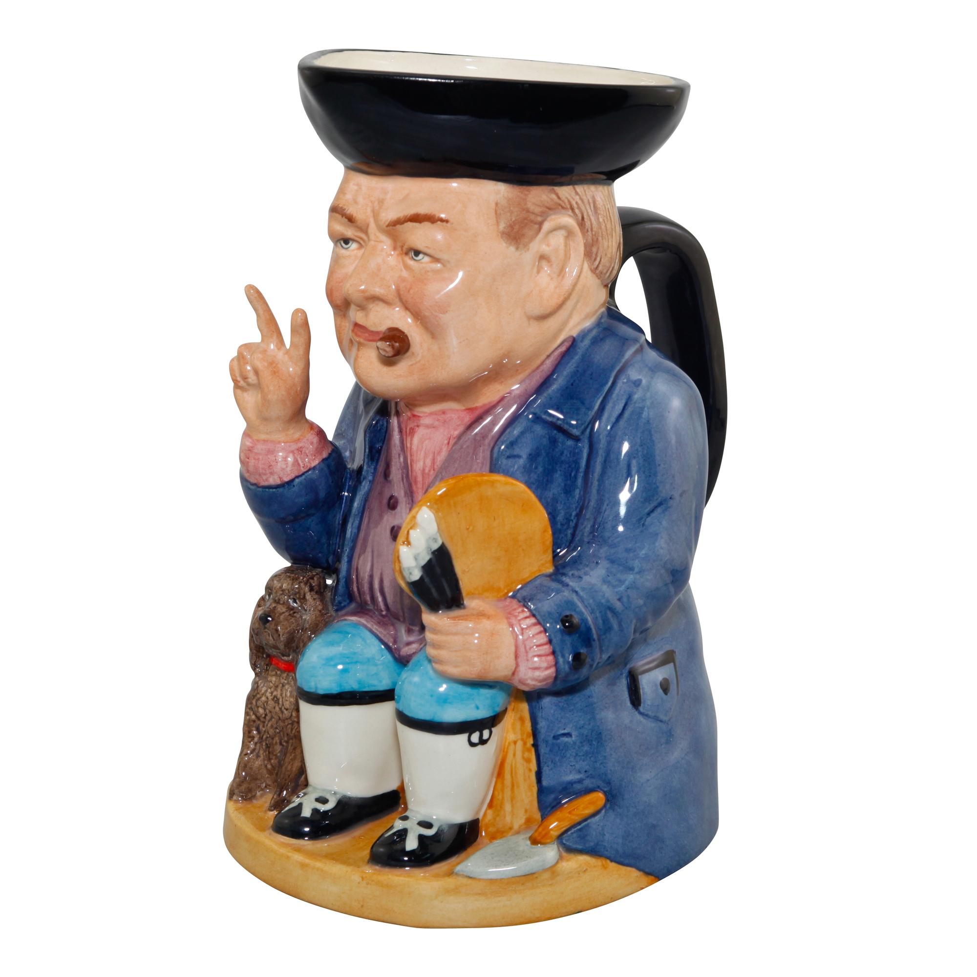 """Winston Churchill Toby Jug """"Winston Rufus"""""""