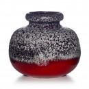 Lava Vase Red White 005 2