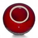 Lava Vase Red White 005 3