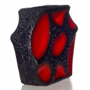Lava Vase Red Black 006 2