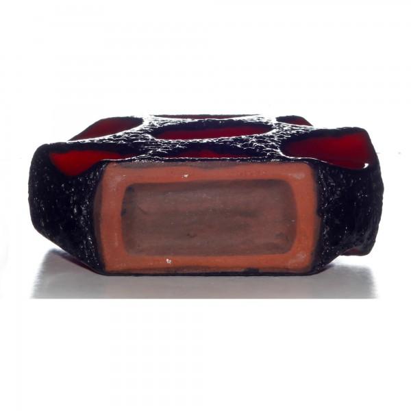 Lava Vase Red Black 006