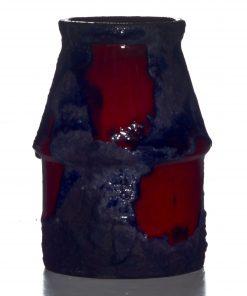 Lava Vase Red Blue 011