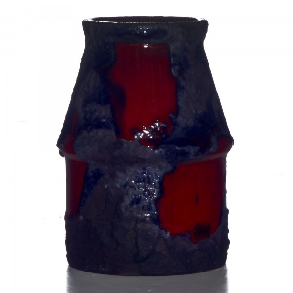 Lava Vase Red Blue 011