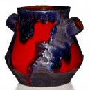 Lava Vase Red Blue 012