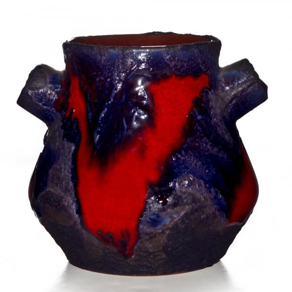 Lava Vase Red Blue 012