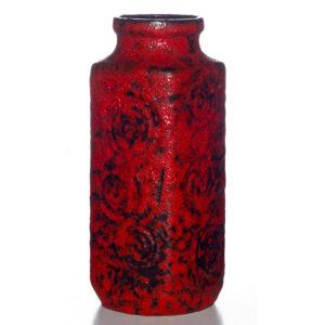 Lava Vase Red Black 015