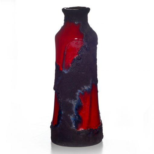 Lava Vase Red Blue 016