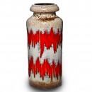 Lava Vase Red Tan 018