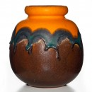 Lava Vase Orange Brown 020 2