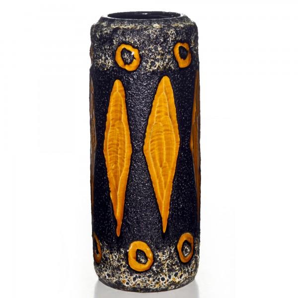 Lava Vase Brown Yellow 021
