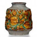 Lava Vase Brown Turq 022 2
