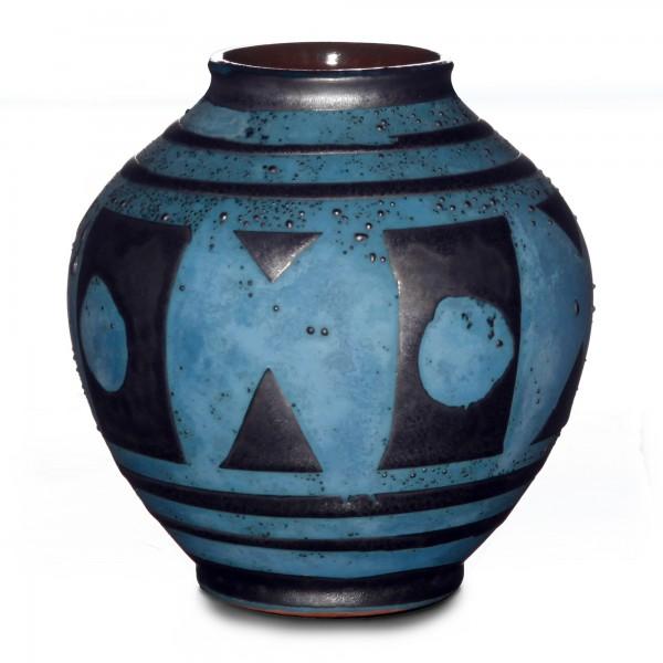 Vase Geo Textured 026