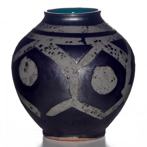 Vase Geo Textured 028