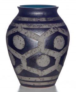 Vase Geo Textured 029
