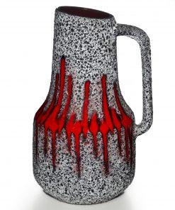 Lava Pitcher Red White 032