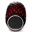 Lava Vase Red Black 038 2