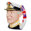 Admiral of the Fleet Earl Mountbatten of Burma Large Character Jug 2