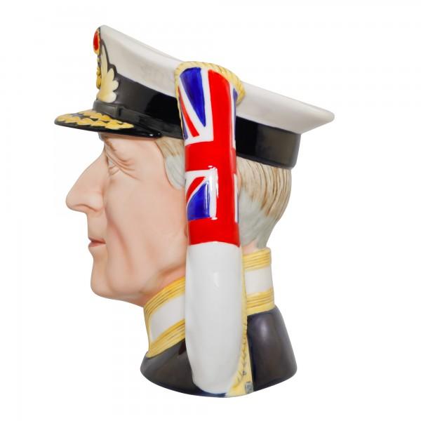 Admiral of the Fleet Earl Mountbatten of Burma Large Character Jug