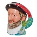 Sir Walter Raleigh Large Character Jug 2
