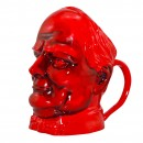 Winston Churchill Large Flambé Character Jug with Double Handles 2