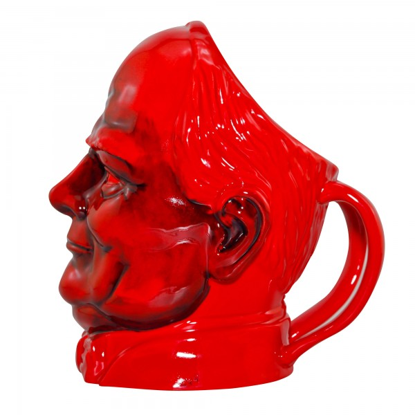 Winston Churchill Large Flambé Character Jug with Double Handles