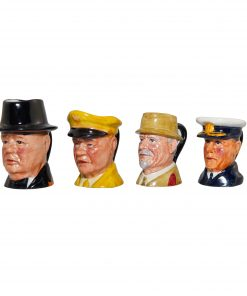 Set of 4 Tiny Character Jugs - War Heroes Series. Set includes: MacArthur, Rommel, Monty and DeGaulle