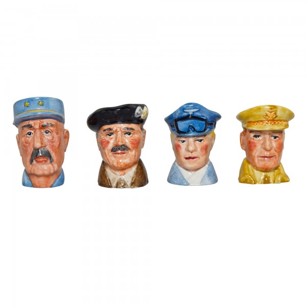 Set of 4 Tiny Character Jugs - War Heroes Series. Set includes: Smuts, Mountbatten, Ike and Churchill