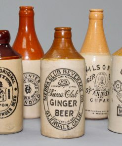 Stoneware Ginger Bottles 10 piece Set