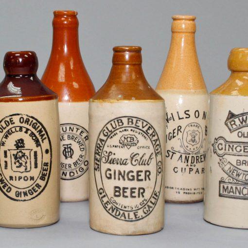 Stoneware Ginger Bottles 10 piece Set