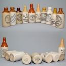Stoneware Ginger Bottles 10 piece Set 5