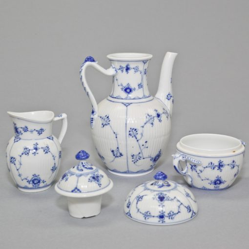 Royal Copenhagen Coffet Pot Sugar Bowl and Creamer