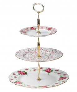 New Country Roses 3-Tier Cake Stand