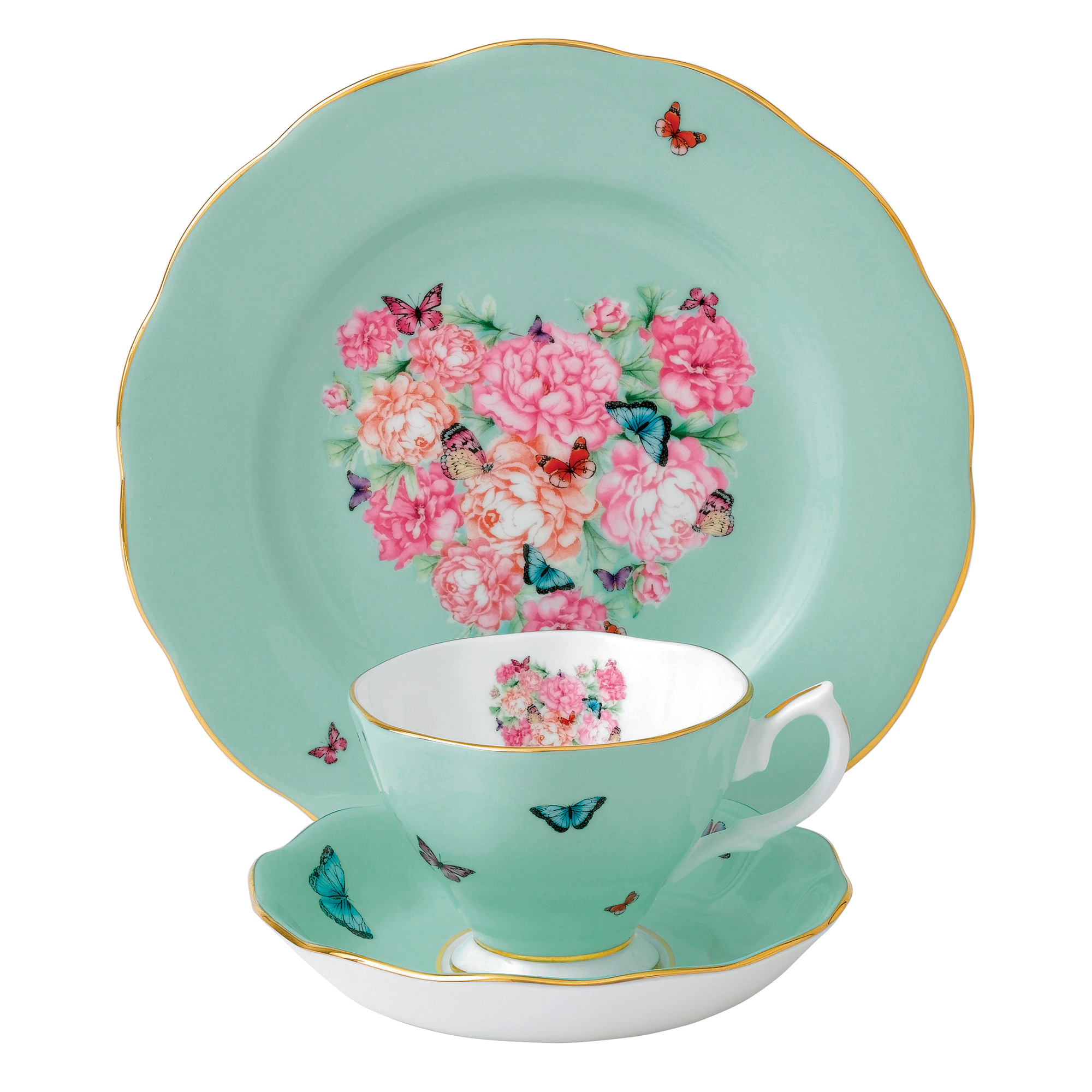 Miranda Kerr for Royal Albert Collection - Blessings 3 pc Set (Teacup, Saucer, Plate)