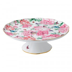 "Miranda Kerr for Royal Albert Collection - Large Cake Stand ""Gratitude"" Pattern"