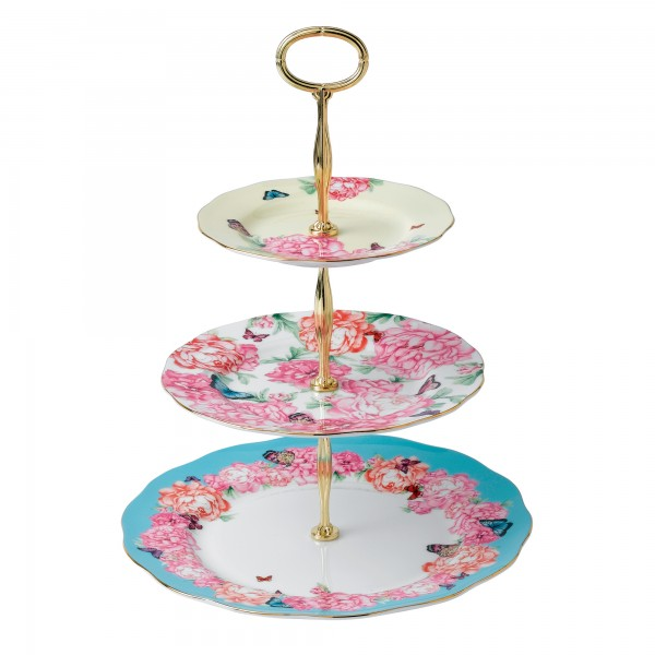 Miranda Kerr for Royal Albert Collection - Three Tier Cake Stand (Patterns include: Devotion, Gratitude and Joy)