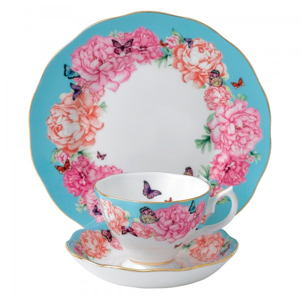 Miranda Kerr for Royal Albert Collection - Devotion 3 pc Set (Teacup, Saucer, Plate)