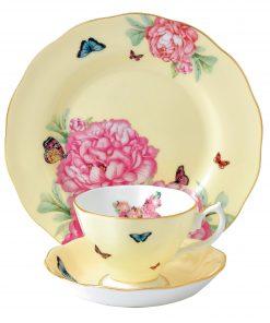 Miranda Kerr for Royal Albert Collection - Joy 3 pc Set (Teacup, Saucer, Plate)