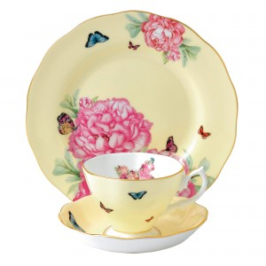 Miranda Kerr for Royal Albert Collection - Joy 3 pc Set (Teacup, Saucer, Plate)