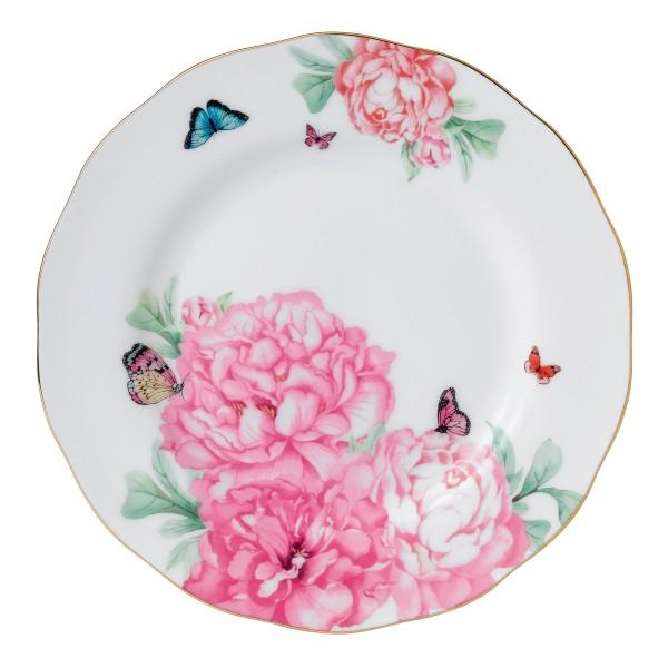 "Miranda Kerr for Royal Albert Collection -  White Plate ""Friendship"" Pattern (8""Dia)"