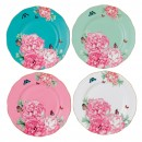"Miranda Kerr for Royal Albert Collection -  Set of 4 Accent Plates ""Friendship"" Pattern"