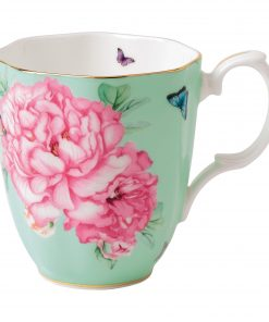 "Miranda Kerr for Royal Albert Collection - Vintage Mug (Green) ""Friendship"" Pattern"