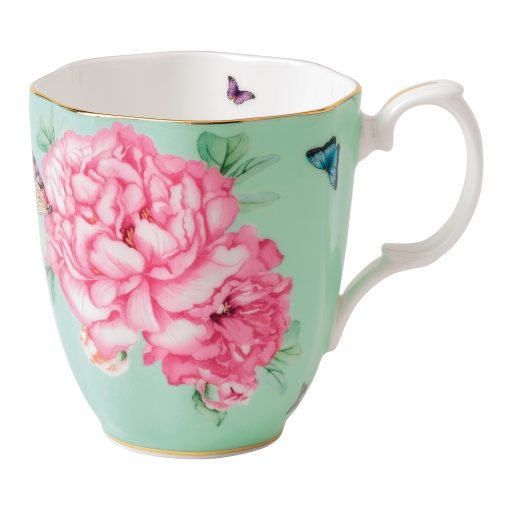 "Miranda Kerr for Royal Albert Collection - Vintage Mug (Green) ""Friendship"" Pattern"