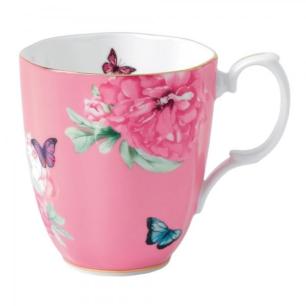 "Miranda Kerr for Royal Albert Collection -  Vintage Mug (Pink) ""Friendship"" Pattern."
