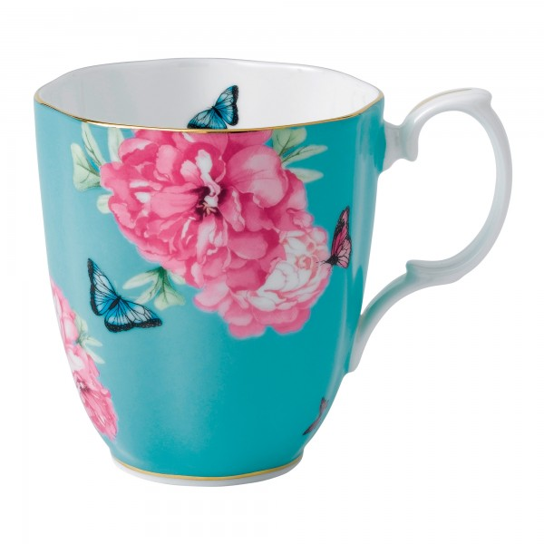 "Miranda Kerr for Royal Albert Collection - Vintage Mug (Turquoise) ""Friendship"" Pattern"