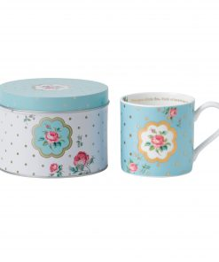Polka Blue Seasonal Mug in Tin