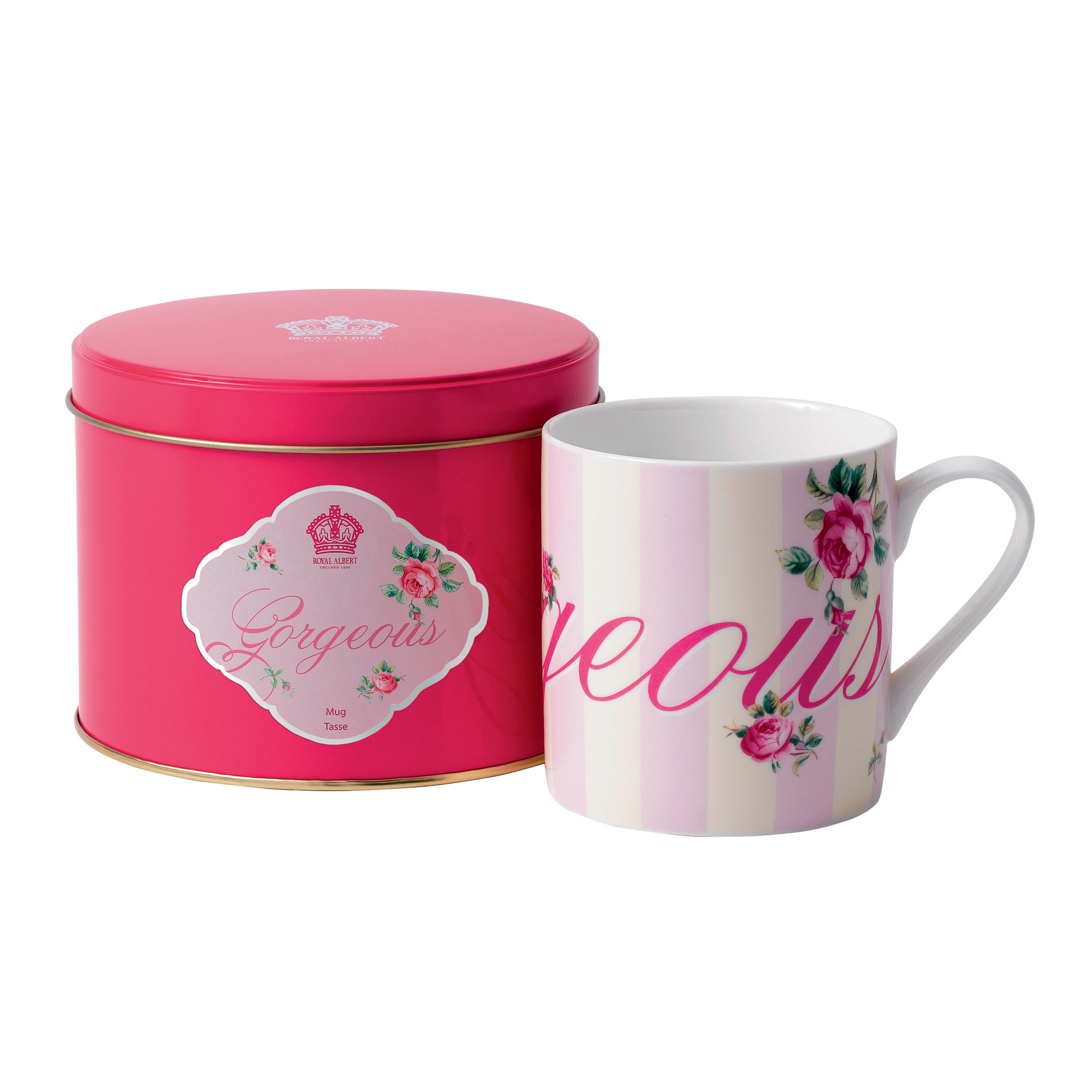 "New Country Roses ""Gorgeous"" Mug in Tin"